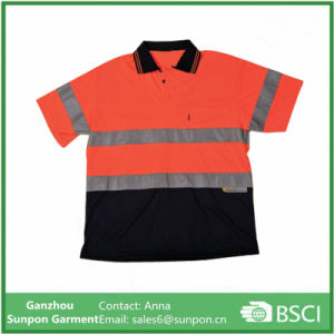 Unisex Reflective Safety Polo Shirt pictures & photos