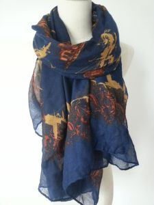 Navy Scarf for Lady Fashion Accessories, Voile Shawls for Women pictures & photos