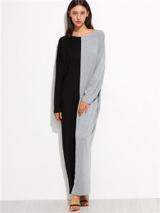 Light Grey DIP Hem Maxi T Shirt Dress pictures & photos