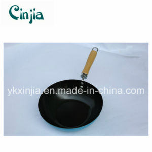 Promotional Carbon Steel Non-Stick Wok with Wood Handle pictures & photos