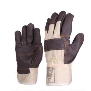 Leather Working Gloves Cow Split Leather Welding Gloves pictures & photos
