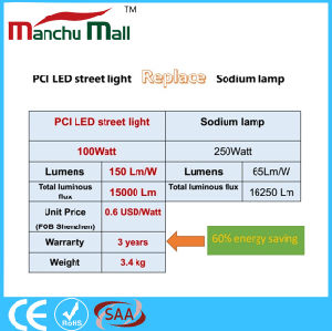 IP67 100W PCI LED Street Light Replace for 250W Traditional Sodium Lamp pictures & photos