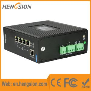4 Megabit Ethernet 2 Gigabit Fiber Port Industrial Ethernet Switch pictures & photos