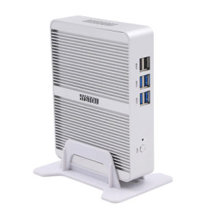 Celeron N3050 Dual LAN Fanless PC with 2HDMI pictures & photos