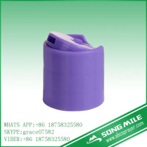 24/410 Purple Plastic Caps for Cosmetic Packaging pictures & photos