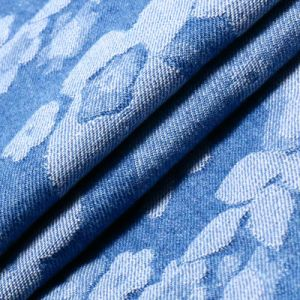 Cotton Spandex Jacquard Denim Fabric for Jeans pictures & photos