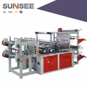 Double Semi-Auto Roll Bag T-Shirt Garbage Bag Making Machine pictures & photos
