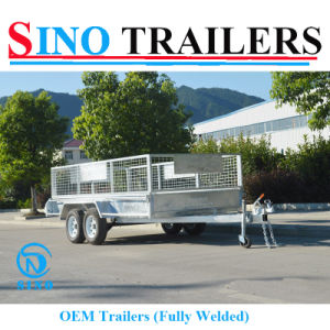 Galvanized OEM 12X6 Tandem Cage Box Trailer