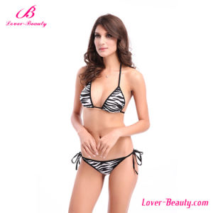 Fashion Zebra-Stripe Sexy Mature Bikini Swimwear pictures & photos