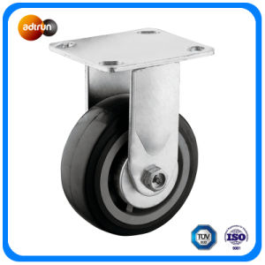 "Heavy Duty 4"" Rigid Plate PU Casters pictures & photos"