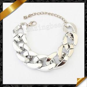 Silver Chain Bracelet, Plastic Silver Jewelry Bracelets (FB060)