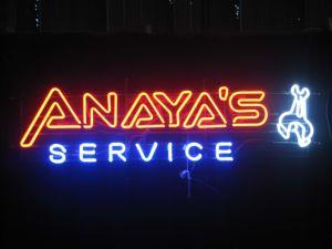 Neon Sign Anaya′s Service (SDL-056)