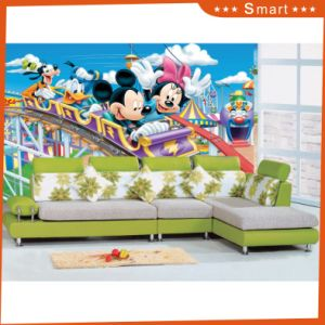 Children′s Park Ride The Roller Coaster Mickey Mouse Oil Painting for Kids pictures & photos