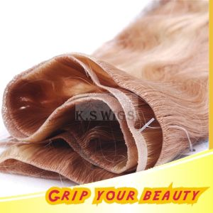 PU Skin Weft Quality Virgin Human Hair Extension pictures & photos