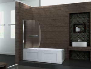 Bathroom Curved Tempered Glass Swing Bath Shower Screen Price pictures & photos