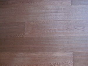 Oak Parquet Flooring With Hand Scrapted and Brawn Stained
