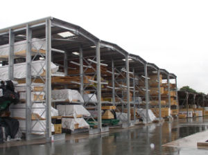 2014 Hot Selling Nanjing Baokai Cantilever Racking with Roof Construction
