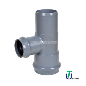 UPVC Two Faucet and One Insert Reducing Tees M/F/F DIN Pn10 (rubber ring) pictures & photos