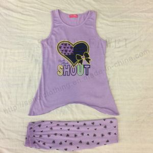 Children Printed Clothing, Baby Girl Suit for Summer Sq-6658 pictures & photos
