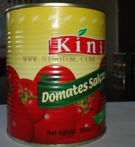 Tin Tomato Paste China Origin Factory Exporting Canned Tomato Paste 850g Easy Open