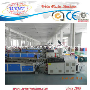 CE Sjsz- 65/132 Wood Plastic Extrusion Making Machine Line pictures & photos