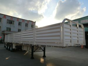 40 Feet 3 Axles 5-Compartment Soil Waste Walled Trailer pictures & photos