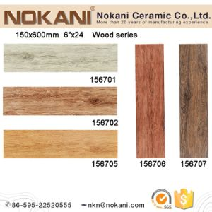 3D Inkjet Ceramic Wood Look Tiles for Wall and Floor (150X600) pictures & photos