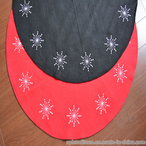 Non-Woven Round Shape Embroidered Rug for Christmas pictures & photos