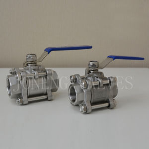 Hygienic Stainless Steel Three-Piece Threaded Ball Valve pictures & photos