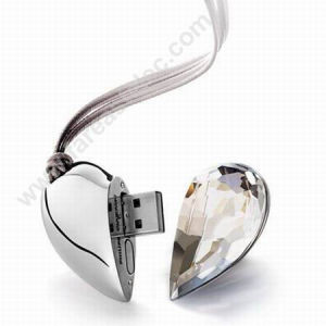 Jewelry USB Flash in Heart Shape (UD04) pictures & photos