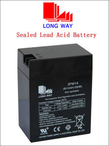 6V 14ah Sealed Rechargeable UPS Lead Acid Battery with Mature Technique pictures & photos