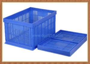 EU Standard Large Plastic Collapsible Storage Basket for Warehouse pictures & photos