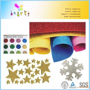 Educational Usage 50X70cm 1.8mm Glitter EVA Foam Sheet pictures & photos
