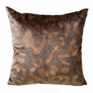 """18""""X18"""" Faux Fox Fur Velvet Decorative Pillow Case Cushion Cover"""
