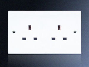 13A 2 Gang Unswitched Socket