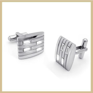Mens Stainless Steel Cuff Link (TPCMK106)