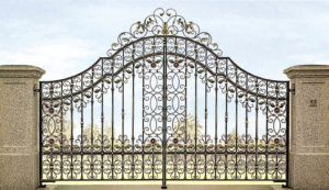 Hand Forged Wrought Iron Gate (TS-095) pictures & photos