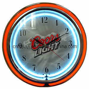 Coors Light Beer Neon Clock Bar Sign (JYD-710)