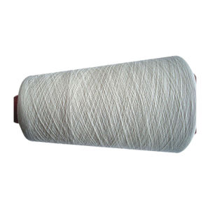 Bamboo Polyester Blenched Yarn -Ne32s/1 pictures & photos