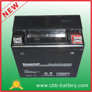 12V5ah Yb5l-BS-Mf Maintenance Free Motorcycle Lead Acid Battery pictures & photos