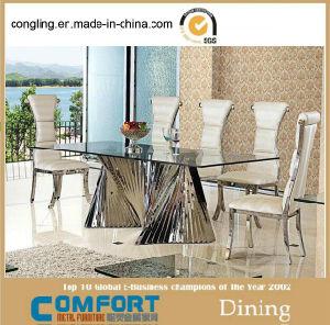 Modern Design Big Glass Furniture Set Dining Tables
