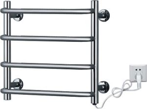 Curved Tube Luxury Stainless Steel Heated Towel Rack