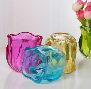 Wedding Gift or Home Decoration Tulip Glass Tealight Candle Holder pictures & photos