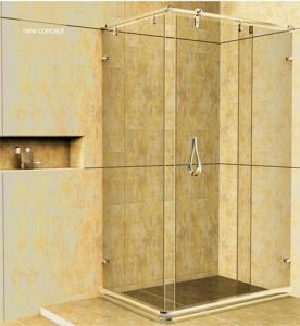 Lyre Series Stainless Steel Hardware Shower Doors Hs-2802f