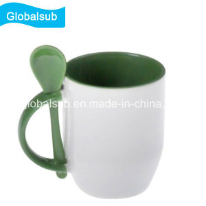 Wholesale Sublimation Color Mug with Spoon Printing by Your Design pictures & photos