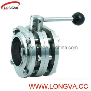 Food Grade Flange 3PCS Butterfly Valve pictures & photos