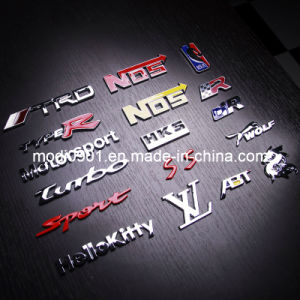 Car Sticker- Car Emblem OEM High Quality 3D Adhesive Plastic Chrome Letter Sticker Emblems Car Badge pictures & photos