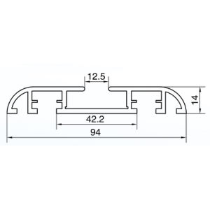 Irregular 6063 Series Aluminum Alloy Extrusion Profile pictures & photos