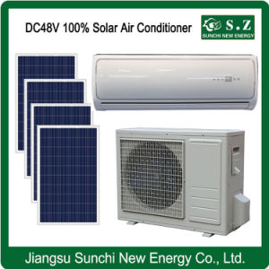 Split Wall Mounted Total DC48V 100% Solar Powered Air Conditioner/Heat pictures & photos