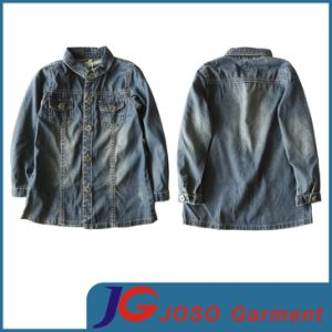 Factory Wholesale Kids Blue Jean Coat (JT5015) pictures & photos